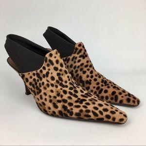 Donald J Pliner Calf Hair Cheetah Slingback Heels